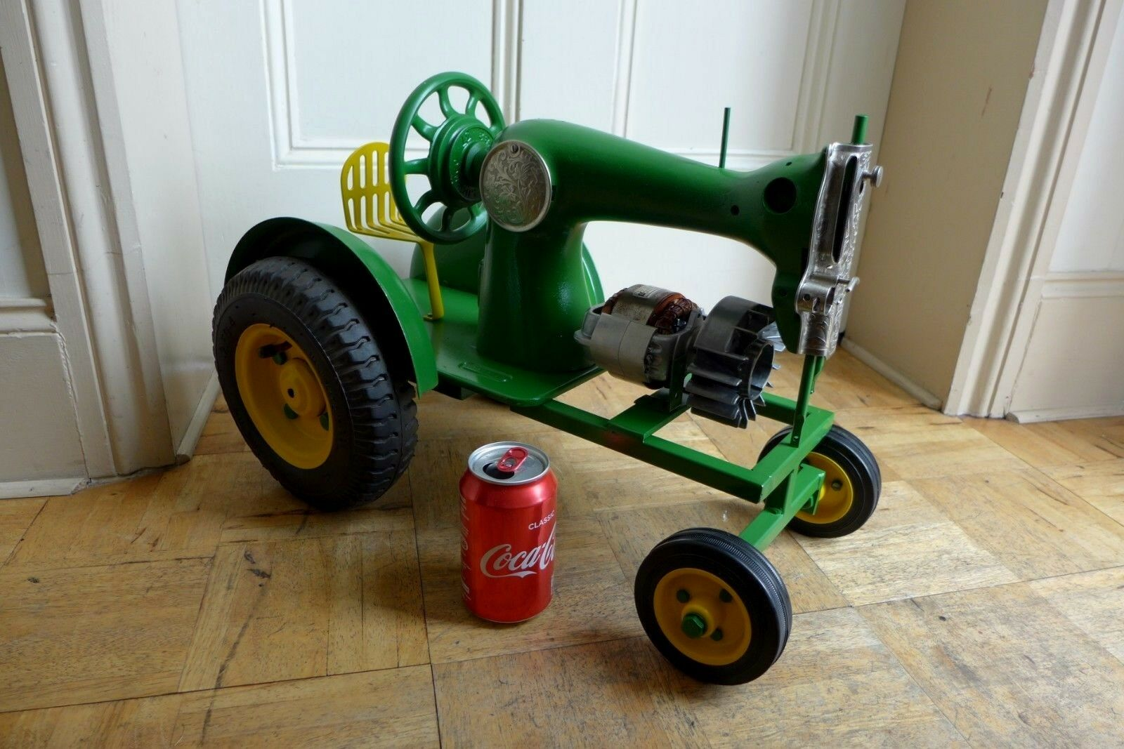 Metal model of the John Deere Tractor Playroom Home Art HANDMADE Collector Cool