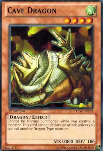 Cave Dragon LCJW-EN279  X 3 Common 1st Ed Yugioh