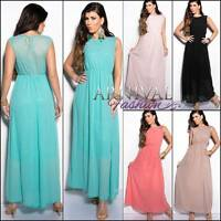 NEW SEXY MAXI DRESS lacy sundress 6 8 10 12 14 LONG SUMMER DRESSES XS S M L XL