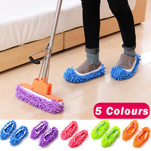 MICROFIBRE-DUSTER-SHOE-SOCK-SLIPPERS-MOP-DUST-REMOVER-CLEANING-FLOOR-POLISHERS