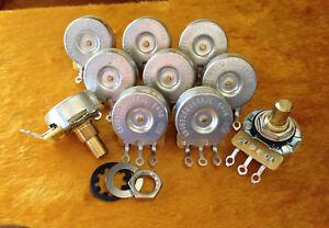 CTS-250K-Short-1-4-SOLID-Shaft-Low-Friction-Audio-Pot-450G-BULK-LOT-OF-10