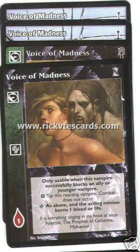 Voice of Madness x4 SW CE KoT Lot A VTES Jyhad