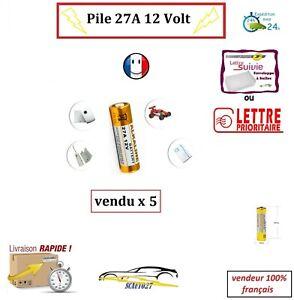 Pile 27A pour télécommande 12 volt vendu par 5