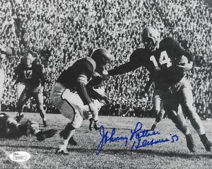 1953-NOTRE-DAME-Johnny-Lattner-signed-8x10-photo-w-039-53-Heisman-AUTO-JSA-COA