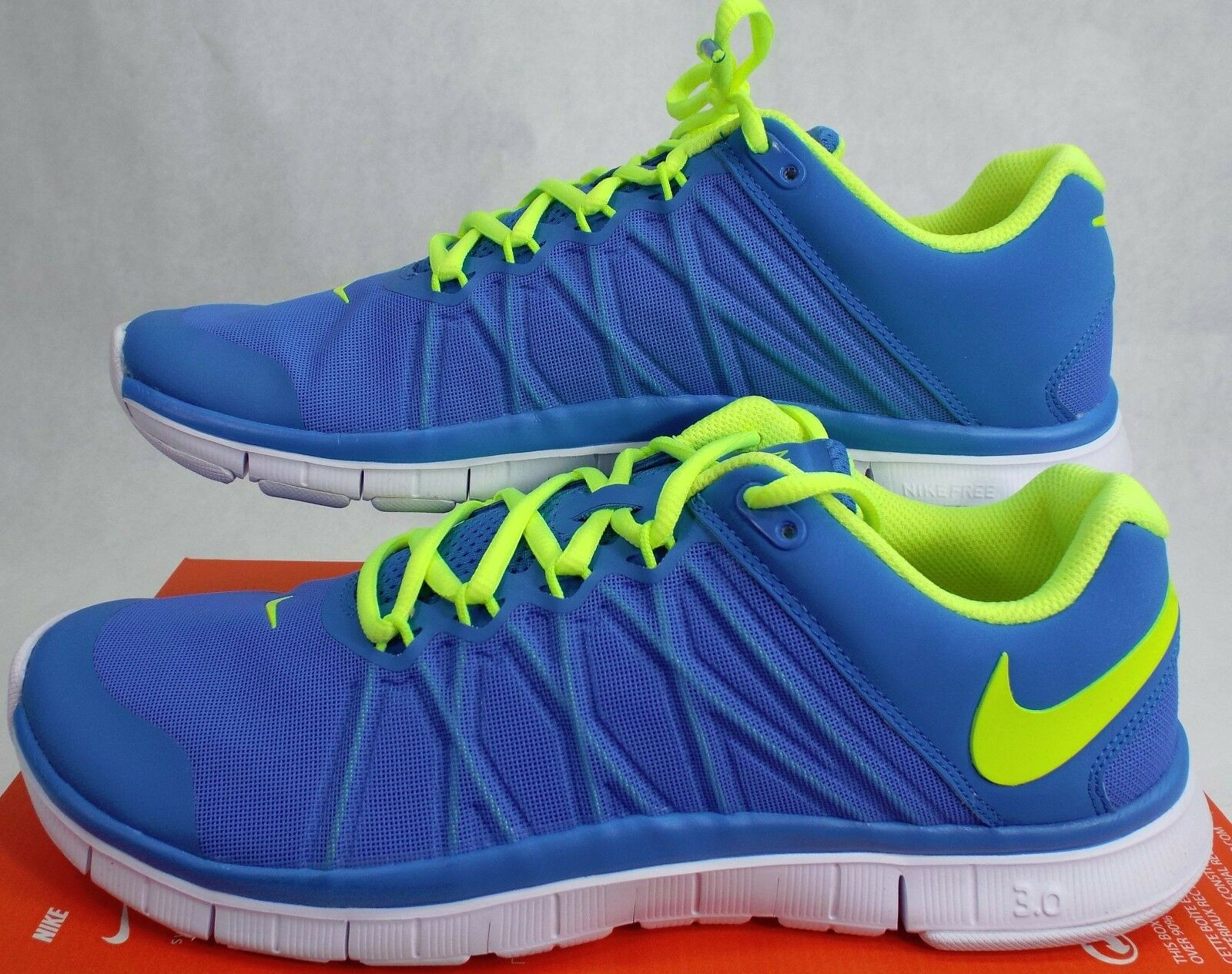New hommes 11.5 NIKE Free Trainer 3.0 Photo bleu Chaussures  110 630856-402