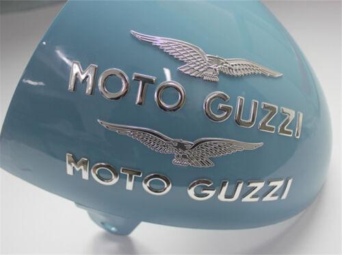 moto guzzi embles BADGE sticker 3d sticker moto guzzi eagle sticker silver