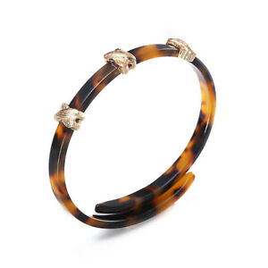 Bracelet Large Goutte Orange Retro Vintage Style Original Soirée Mariage CT2