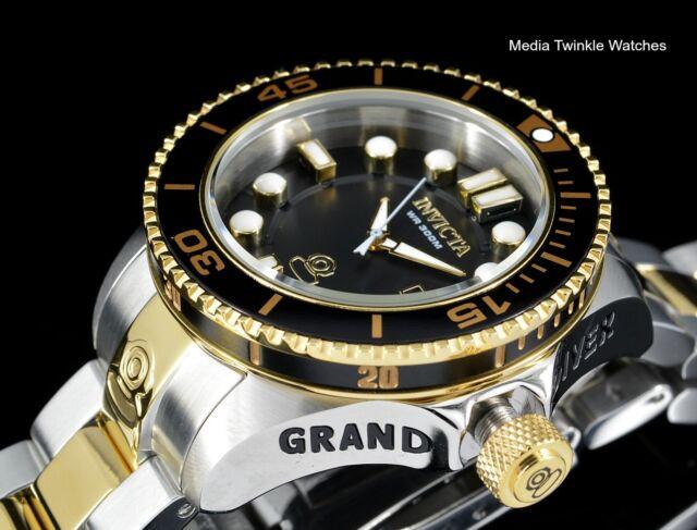 Invicta 38mm WOMEN'S Grand Diver Gen II Quartz Gold Tone & Black Bracelet Watch