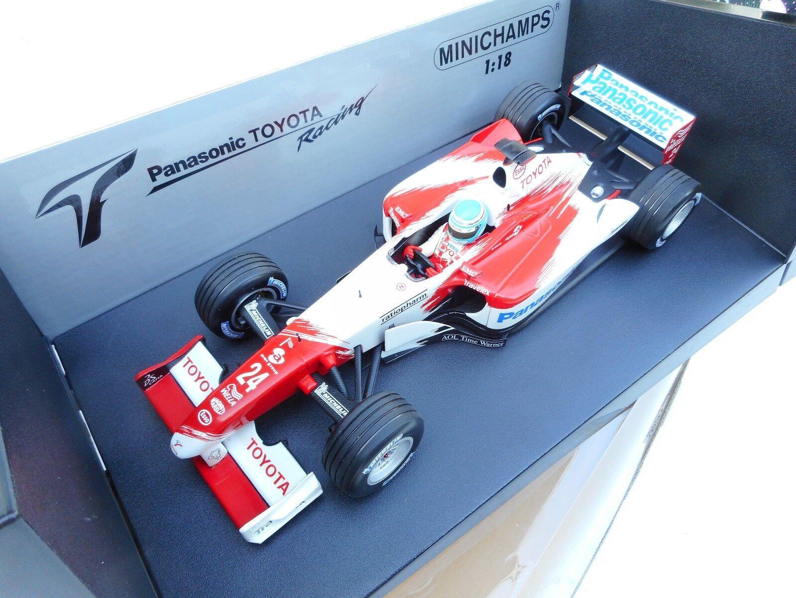 MINICHAMPS TOYOTA TF102 F1 model racing car Mika Salo 2002 1 18th MB
