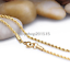 Tono Oro Amarillo Para Hombre//Mujer Soga Cadena Collar de acero inoxidable de 2-4 mm 45-80 Cm