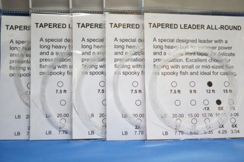 Vorfach Monofil 12ft 3,60 Meter 5er Pack Versand frei Tip 0,28mm Superdeal