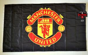 Manchester City Flag Banner 3x5 Premier Football Soccer Black Gold Premium