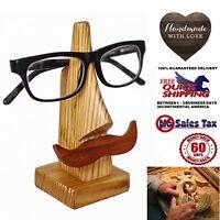 Eyeglass Sunglass Holder Display Stand Handmade Hand Carved Pine Wood Craft