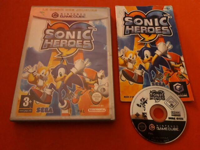 SONIC HEROES NINTENDO GAMECUBE GC PAL COMPLET FR