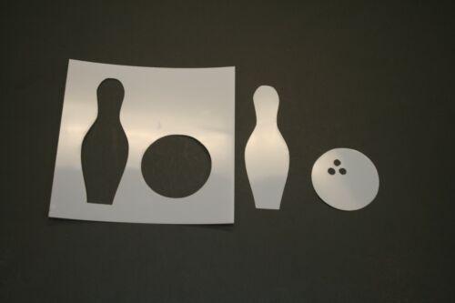 Bowling Ball and Pin Reusable Mylar Stencil Art Supplies