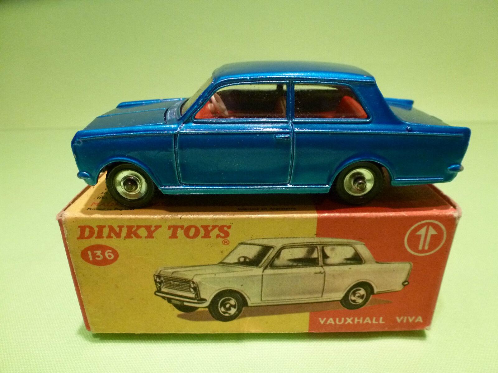 Opel - vauxhall viva dinky spielzeug 136 136 136 regulieren - blau 1 43 - selten selten ( 5 - vg im kasten 7c516c