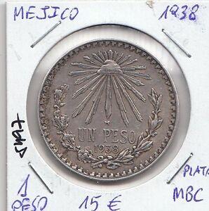 6df43b33863a La imagen se está cargando E5497-MONEDA-MEXICO-1-PESO-1938-PLATA-MBC