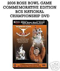 The 2006 Rose Bowl  TEXAS LONGHORNS VS USC TROJANS DVD