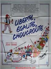LIBERTE EGALITE CHOUCROUTE Affiche Cinéma / Movie Poster Jean Yanne
