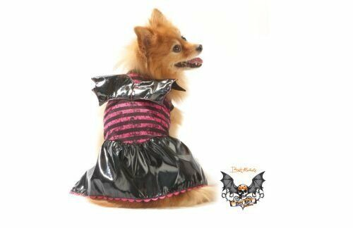 pet girl dog halloween costume bret michaels bat dress small s ebay