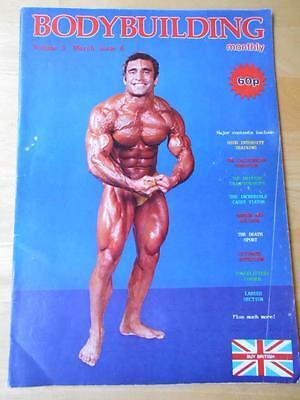 BODYBUILDING MONTHLY muscle magazine/AHMET ENULU & ROY DUVAL 3-80 (UK)