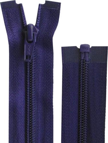 25cm-193cm OPEN END Nylon Zip Coat Weight Purple YKK 10-36 Inch