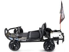NEW Fast Pull Start Gas Go Cart Off Road Kids ScooterCrew Black 2 Stroke Petrol