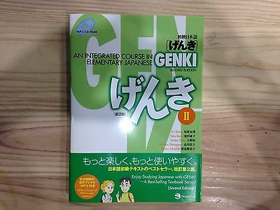 NEW Genki 2: An Integrated Course in Elementary Japanese 2nd Edition From Japan