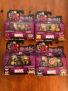 Marvel-Minimates-Best-Of-Series-1-Complete-Set-OF-8-SPIDER-MAN-IRON-MAN-THOR
