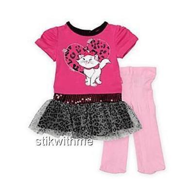 NEW  Disney Aristocats Marie ~ Tutu  DRESS & TIGHTS  SET ~  Newborn Up to 7 Lbs.