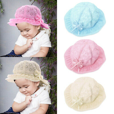 Girl Baby Baptism Princess Kids Hat Cap Beanie Bonnet Hair Accessories LJ