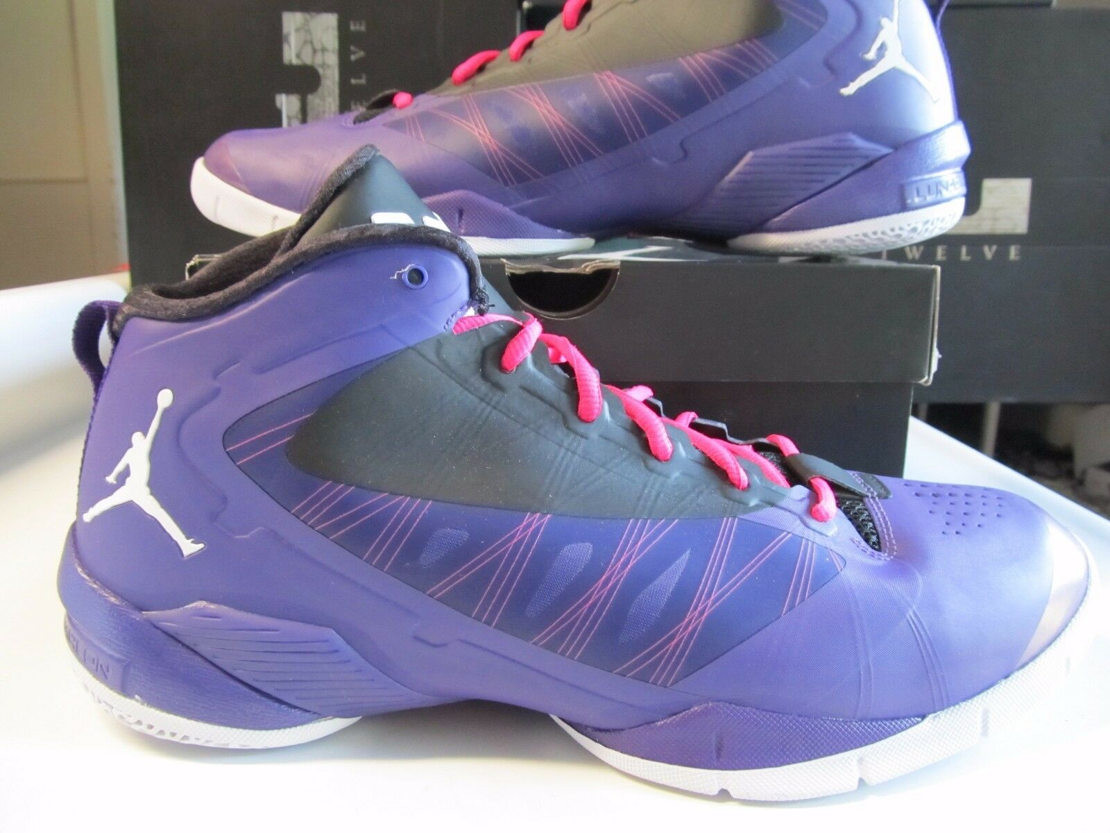 DS Nike Air Jordan Fly Wade 2 EV Purple Wh Black Spark 13 514340 501 south beach