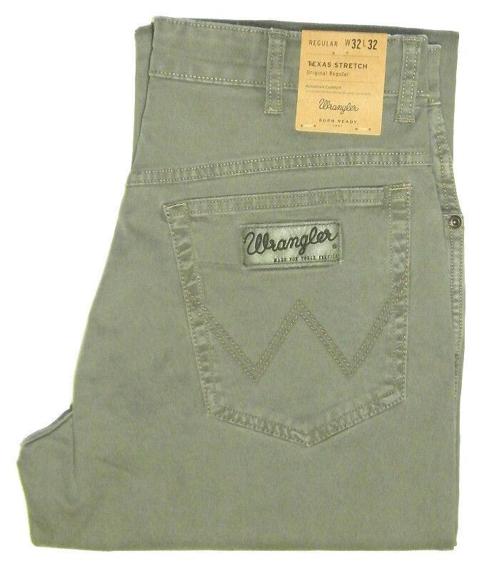 Wrangler Texas Stretch Grey W 32 33 34 36 38 40 42 Army Grey w121ap181