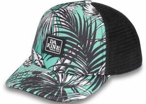Dakine-LO-039-TIDE-TRUCKER-Womens-Adjustable-Snapback-Hat-Turquoise-Palm-NEW-Sample