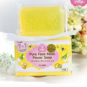 1-12 Bars New! 7 in 1 PURE FACE MASK POWER SOAP JELLY WITH COLLAGEN & VITAMIN C