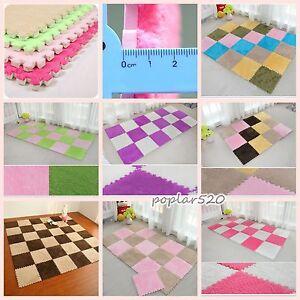 30*30cm Baby Puzzle Mat Soft Splice Living Bed Room Door Floor Carpet Home Decor