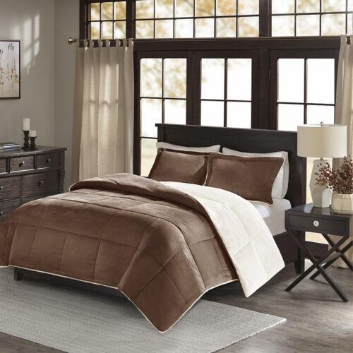 Madison Park Jackson Corduroy Reverse to Berber Comforter Mini Set