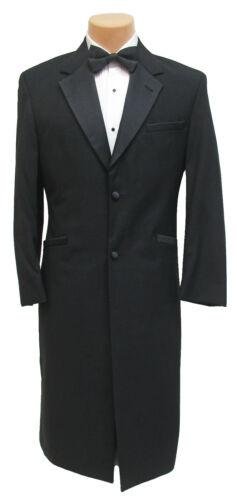 Men/'s Long Black Andrew Fezza Tuxedo Frock Coat Victorian Steampunk Gothic 41R