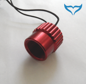 "Verschlusskappe Verschlußkappe Kappe DIN G5//8/"" Alu rot Atemregler 1.Stufe NEU /<"