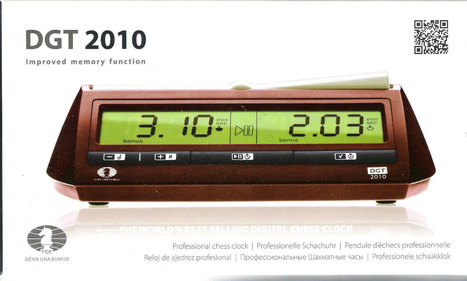 Schachuhr elettronicamente: DGT 2010-Nuovo/Scatola Originale-anche per Scrabble ® adatto