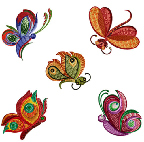 "ABC Designs Dancing Butterflies Machine Embroidery SET 4/""x4/"" hoop 5 designs"