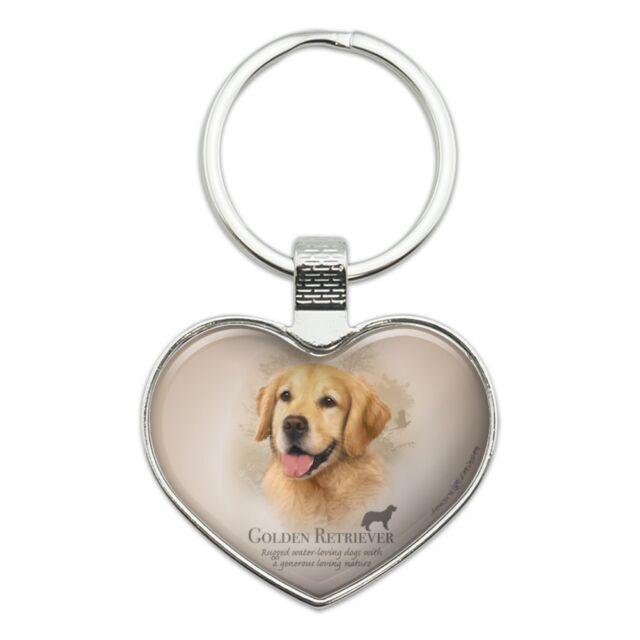 Dog Illustrations Wooden Golden Retriever Keychain Golden Retriever Dog Keychain Dog Keychains Laser Cut