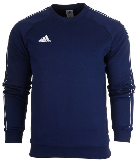 adidas Mens Core Fleece Crew Training Sweatshirt Sports Overhead Gym ... 614987fbe96a