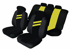 FIAT UNO Universal Car Seat Covers YELLOW STRIPE