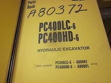 Komatsu PC400LC-6 PC400HD-6 Hydraulic Excavator Parts Book Manual