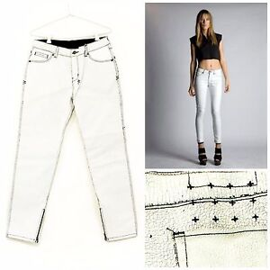 online store wholesale price watch Details about NEW - RRP $399 - Womens Stunning Ksubi 'SPRAY ON CRACK WHITE'  Jeans Size 29