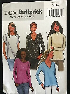 BUTTERICK SEWING PATTERN PANTS EASY MISSES/' or PETITE SIZE XS-M or L-XL # B4290