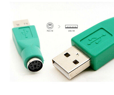 PS2 to USB Adapter Converter for Mouse Keyboard Laptop Old to New PC green ONE