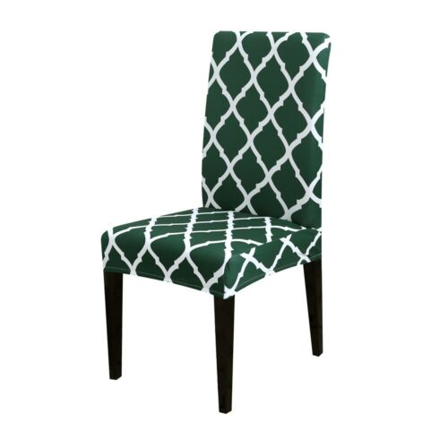 UK Elastic Dining Chair Covers Stretch Slipcover Kitchen Chair Protective Cover