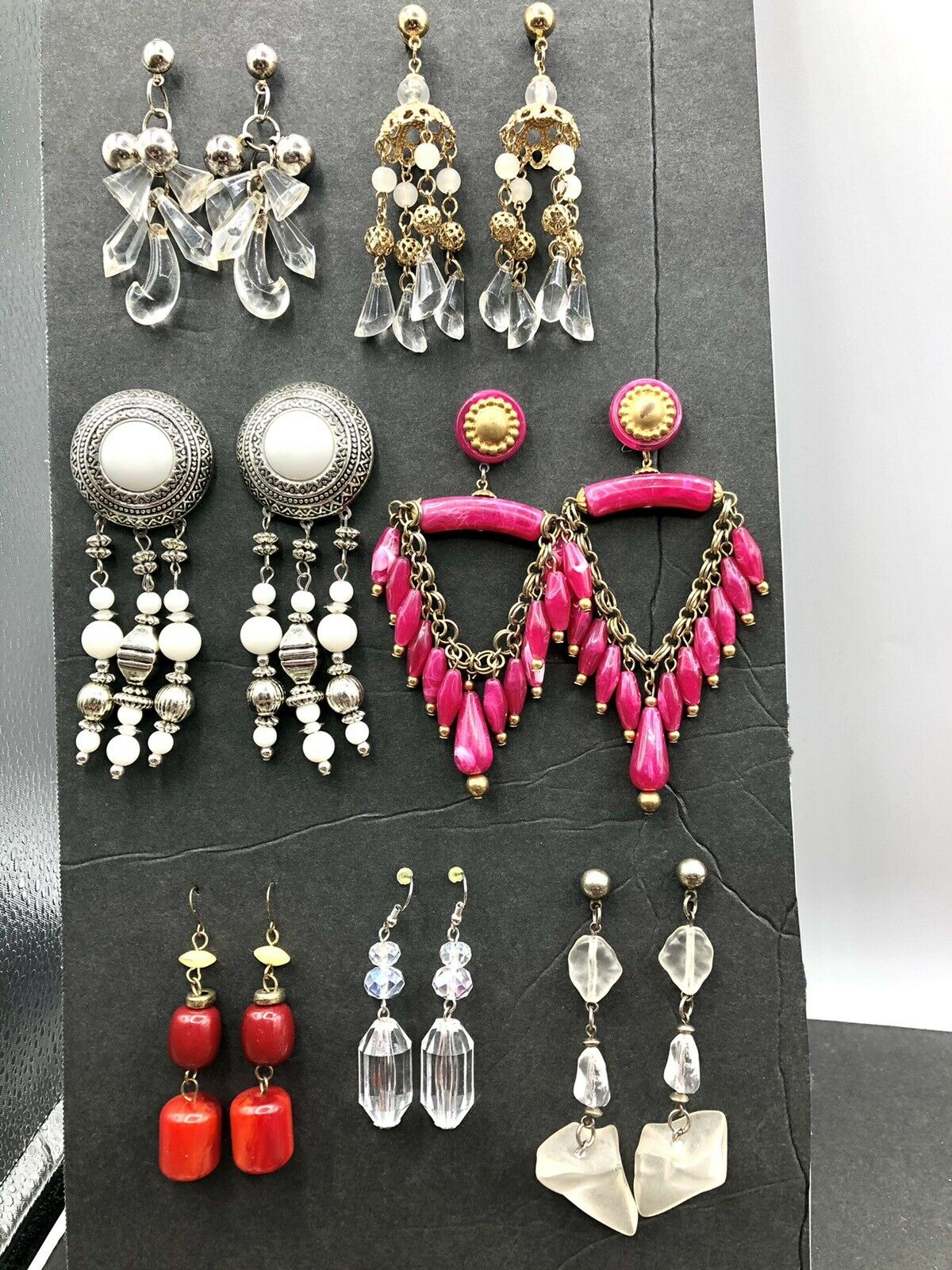 Wholesale Joblot New Look White Silver Ball Round Drop Earrings X 120 Pairs